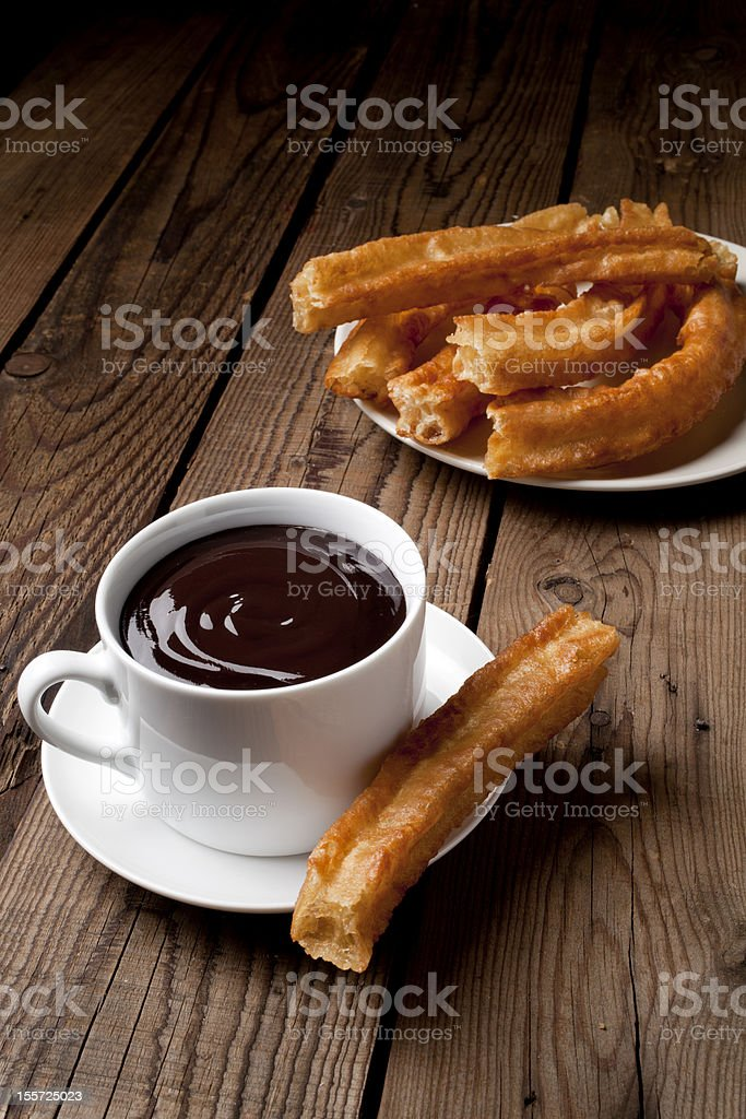 Chocolate with Churros stock photo
