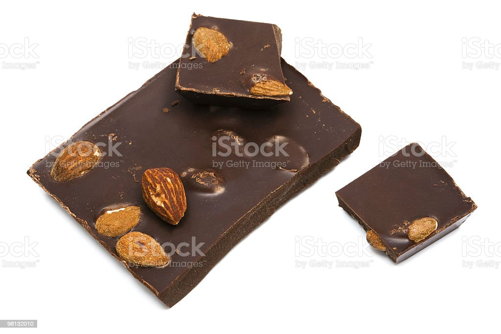 chocolate with nuts royalty-free stock photo