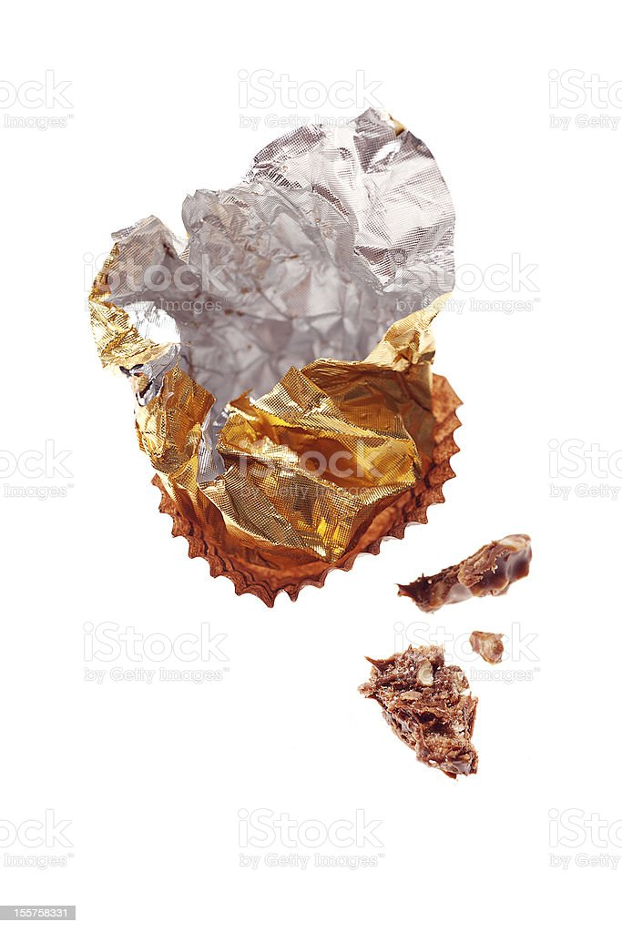 Chocolate Wrapper stock photo