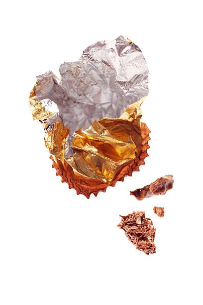 Chocolate Wrapper stock photo