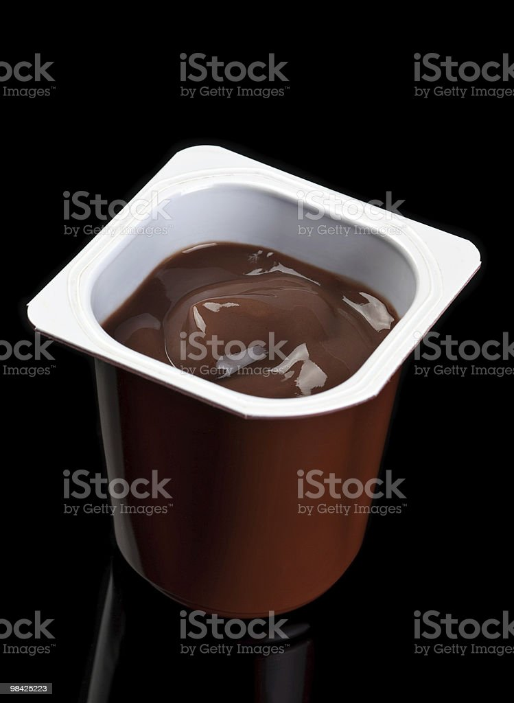 Chocolate yoghurt royalty-free stock photo