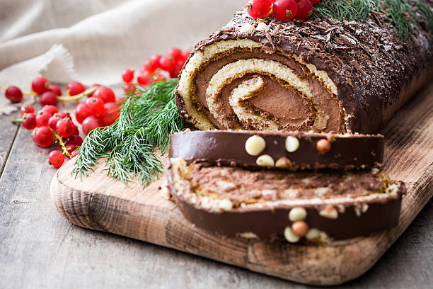 Best Yule Log Stock Photos Pictures Royalty Free Images Istock