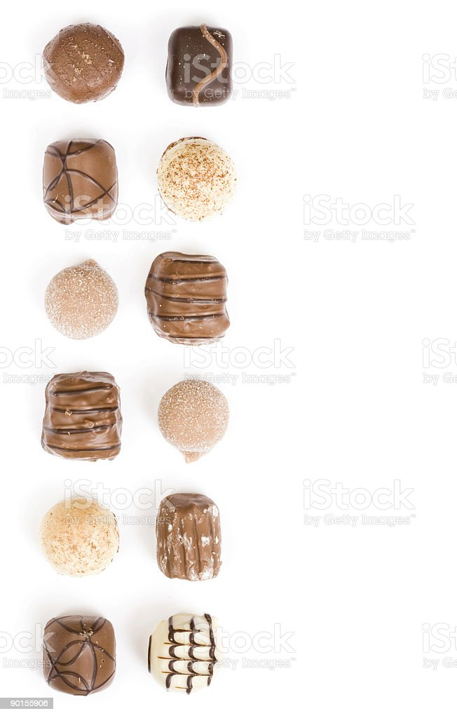 Chocolates border royalty-free stock photo