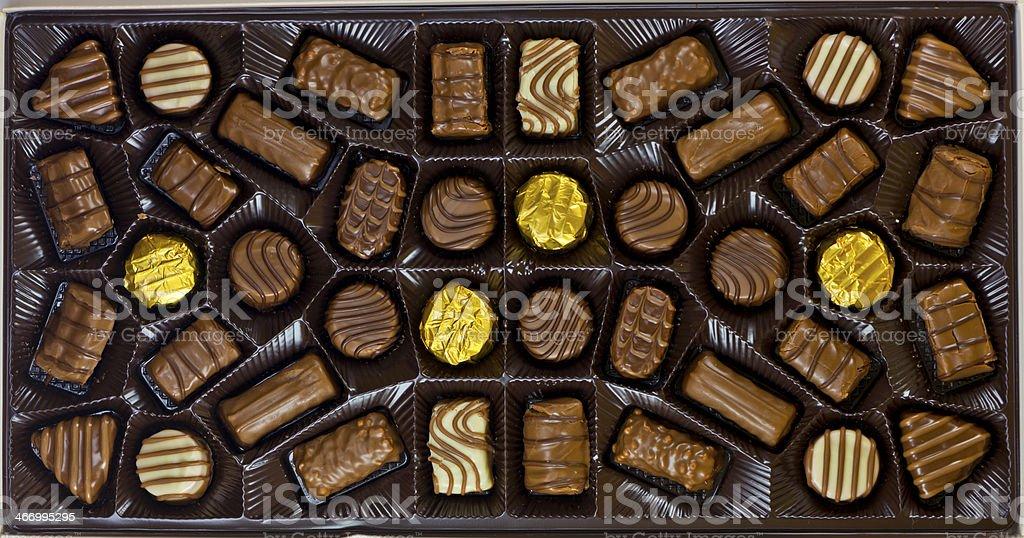 Chocolate's box royalty-free stock photo