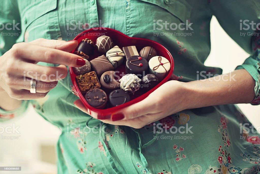 Chocolates for valentine stock photo