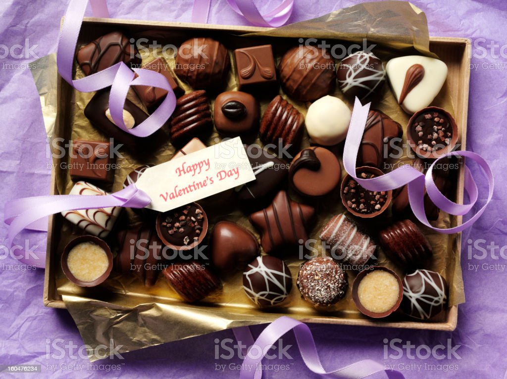 Chocolates for Valentine's Day royalty-free stock photo