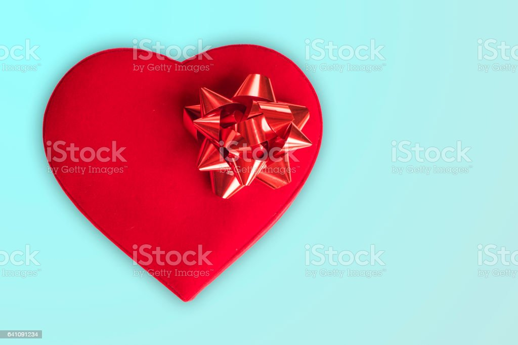 Chocolates in red box stock photo