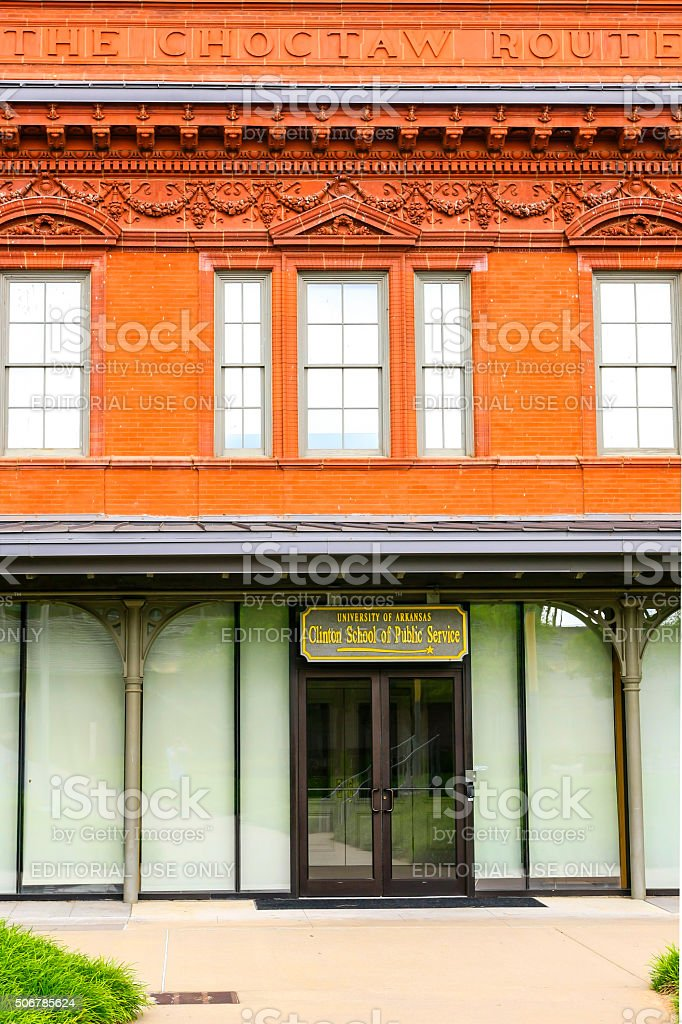 Choctaw Railway Station in Little Rock, Arkansas stock photo