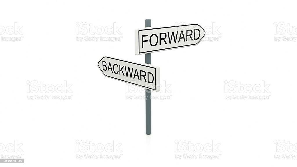 Choice between forward and backward stock photo