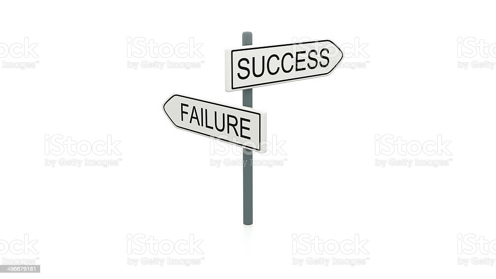 Choice between success and failure stock photo