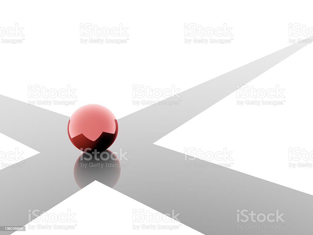 Choice in red stock photo