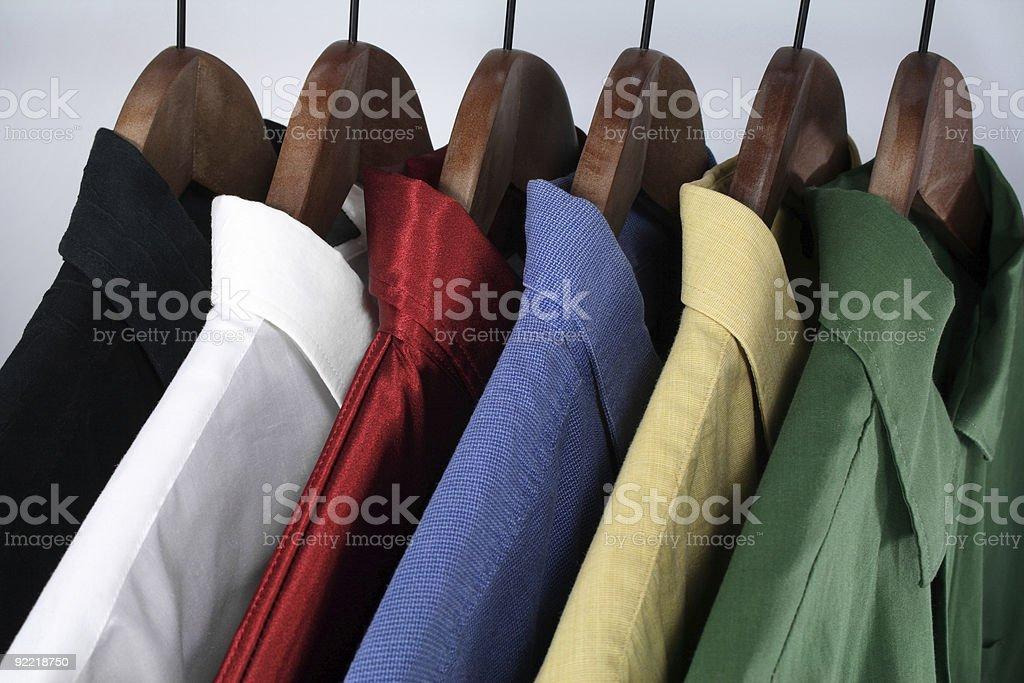 Choice of colorful shirts royalty-free stock photo