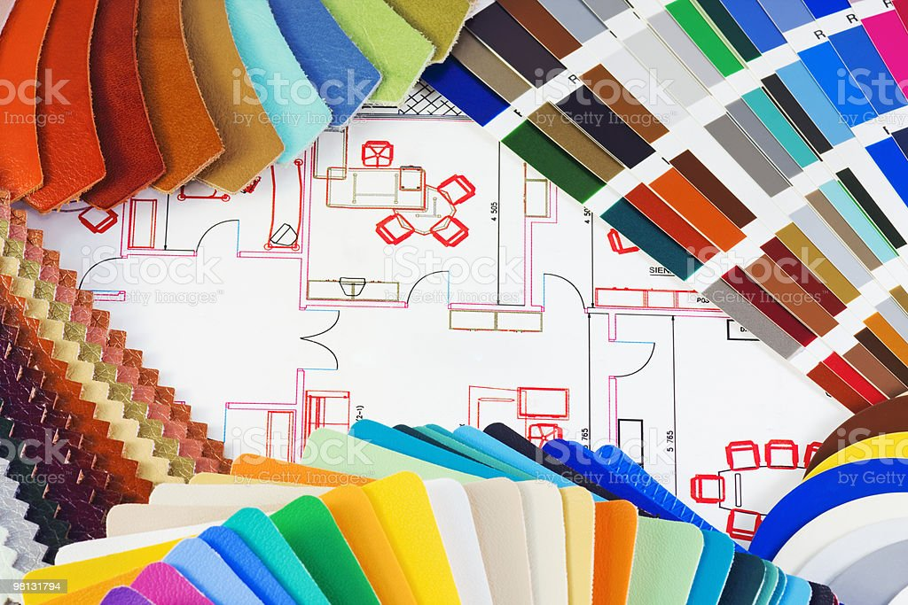 choice of material for interior decoration royalty-free stock photo