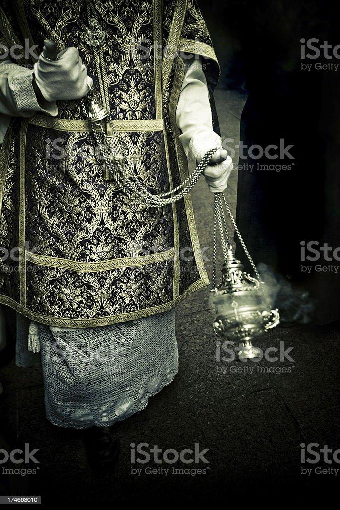 choir boy in holy week royalty-free stock photo