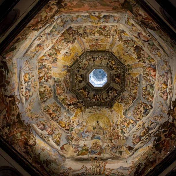 chor-kuppel in der basilika von san lorenzo, florenz italien - gothic bilder stock-fotos und bilder