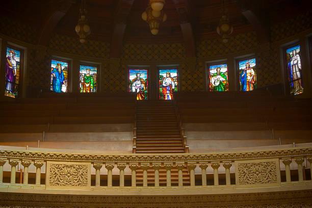 Choir loft stock photo