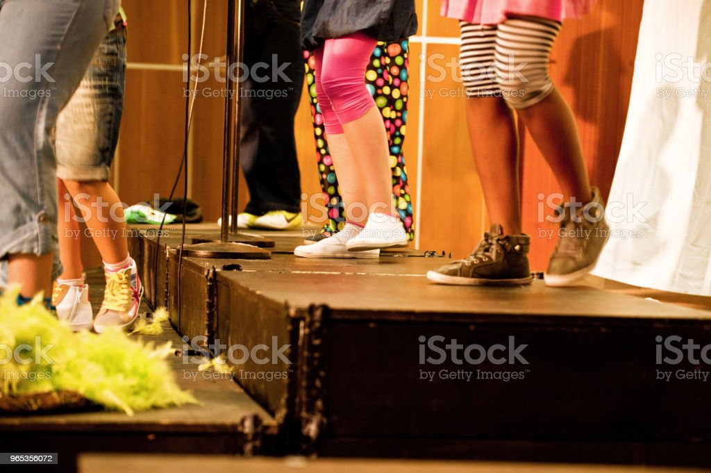 Choir Singer/s On Stage royalty-free stock photo