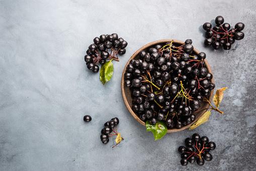istock chokeberry, aronia berries. 1176749848