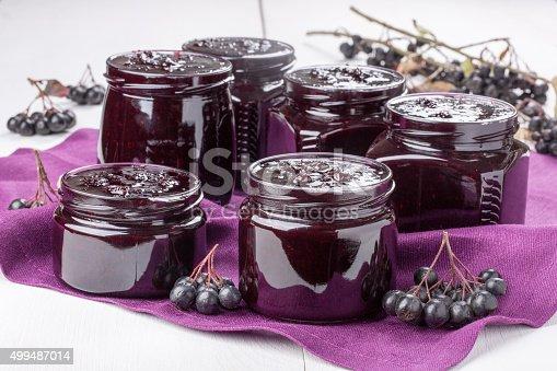 istock Chokeberry jam. 499487014