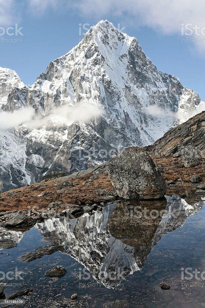 Cholatse in the Khumbu Himalaya royalty-free stock photo