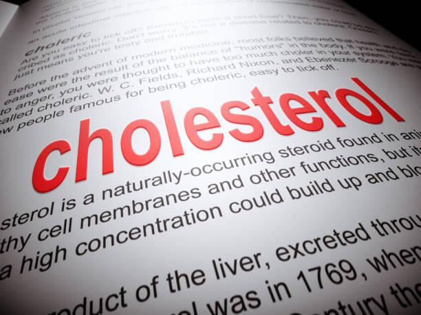 Cholesterol - Dictionary Series stock photo