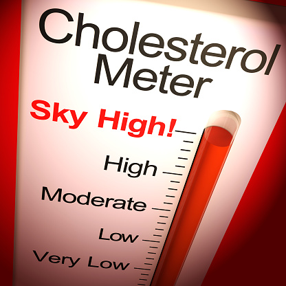 istock Cholesterol meter sky-high shows elevated blood pressure - 3d illustration 1180116914