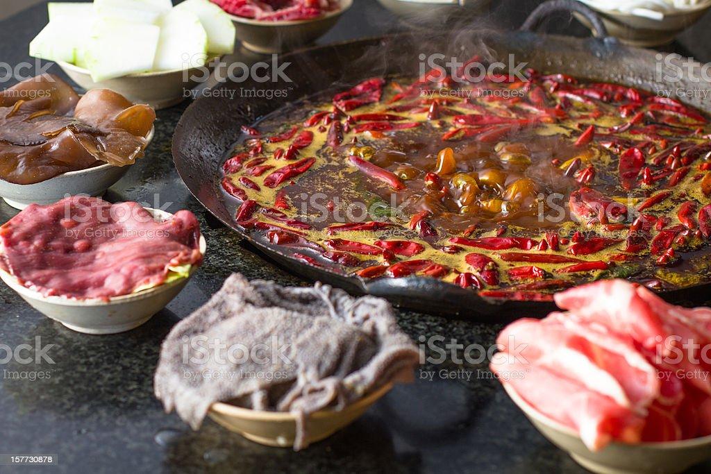 Chongqing Hot pot stock photo