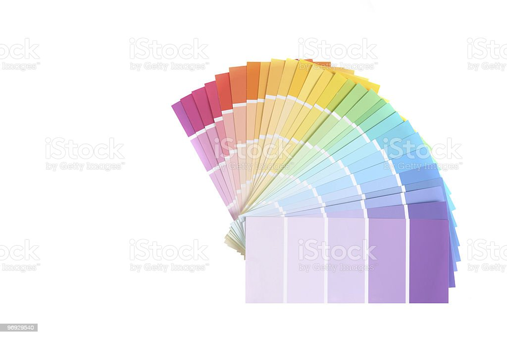 Choose a Paint Color royalty-free stock photo