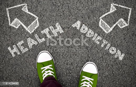 istock Choose health or addiction, two different ways 1191429450