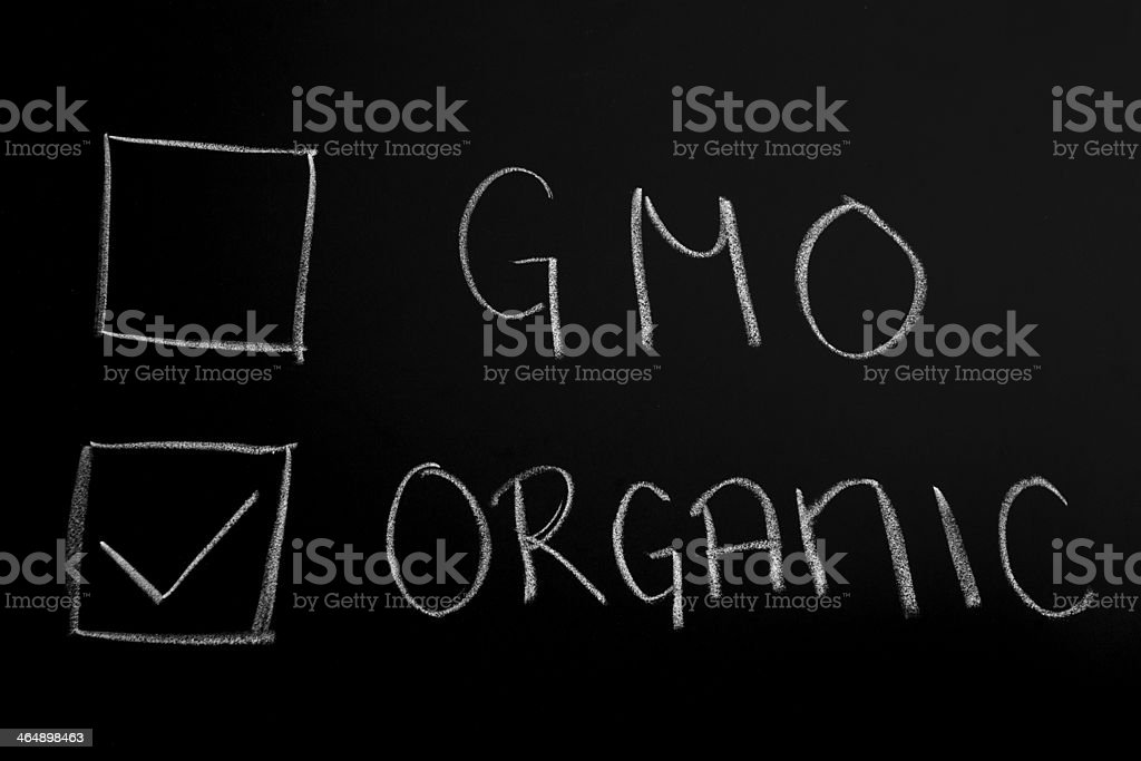 Choose Organic stock photo