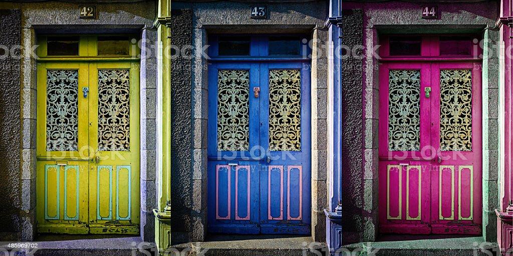 choose the right door stock photo