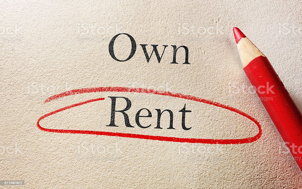 Choose to rent stock photo