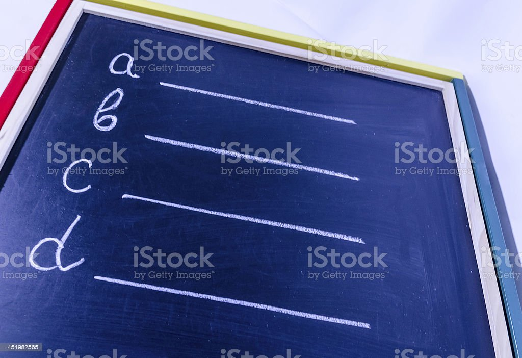 Choose what you will write. stock photo