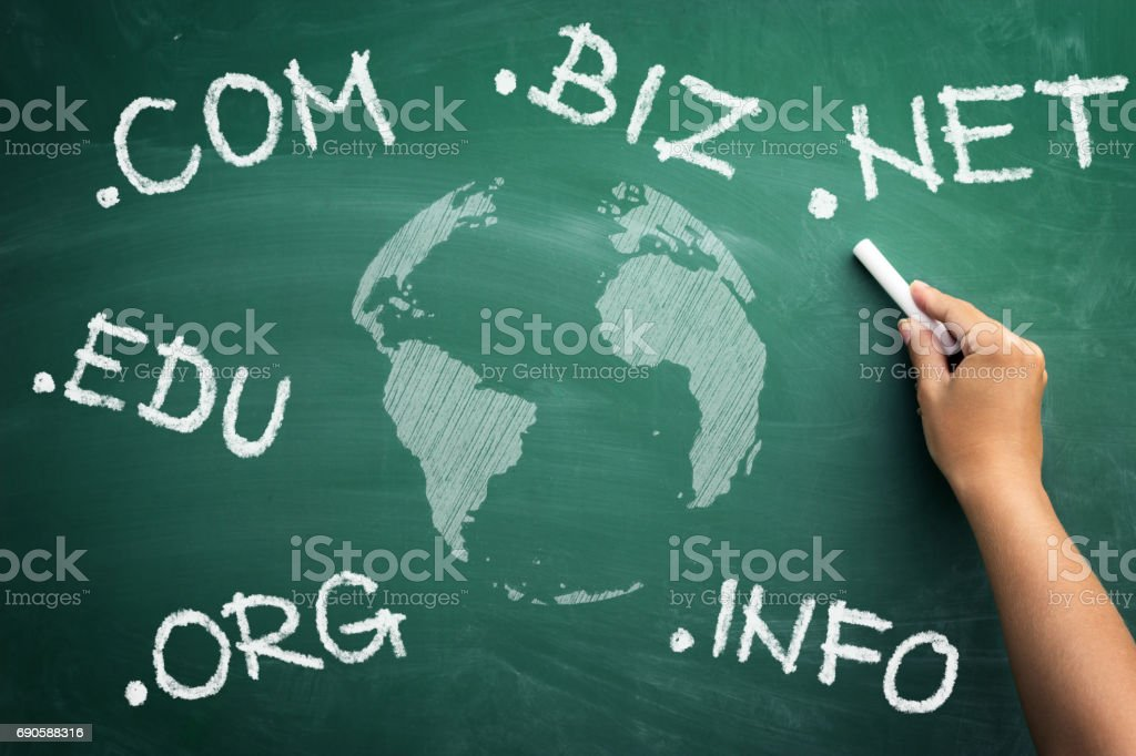 Choose you new domain stock photo