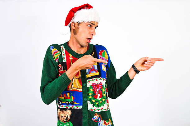i choose you - ugly sweater stock photos and pictures
