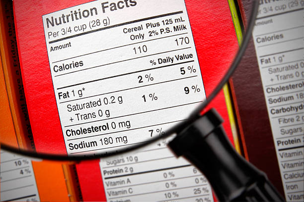 choose your breakfast cereal! - nutrition label stock photos and pictures