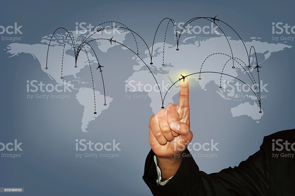 Choose your Business Travel Flight Concept stock photo