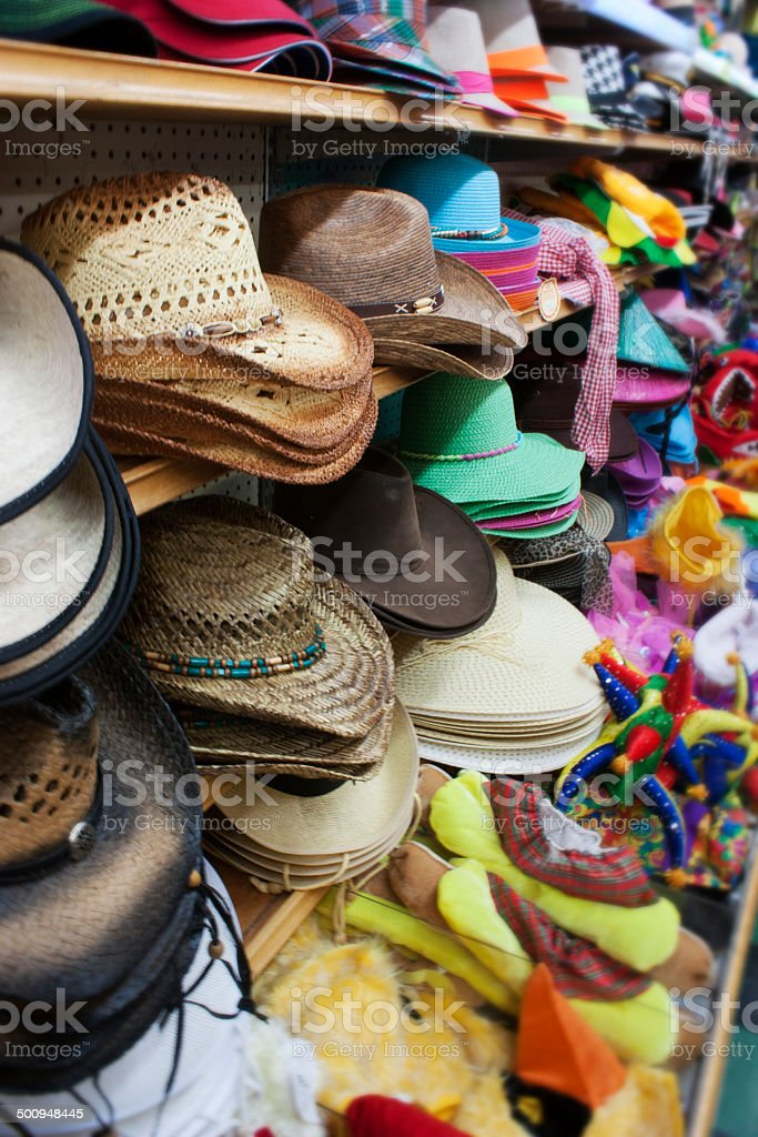 Choose Your Hat stock photo