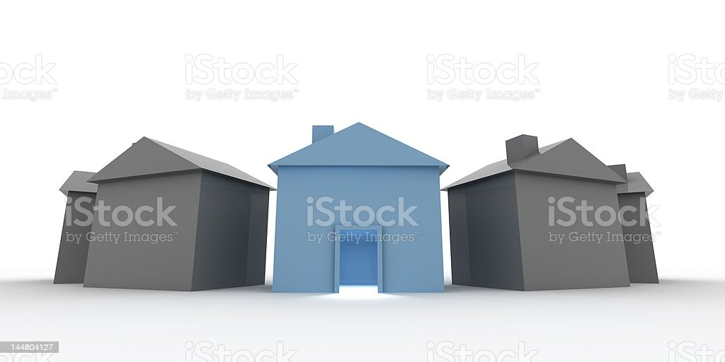 Choose your house stock photo