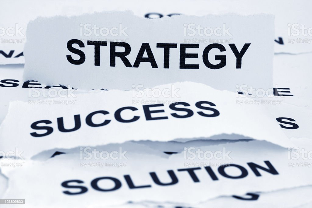 Choose your own strategy success and solution royalty-free stock photo