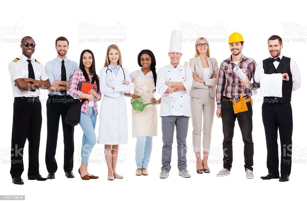 Choose your profession. stock photo