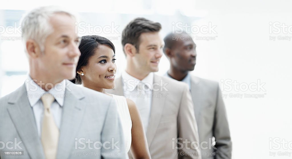 Choose your team leader stock photo