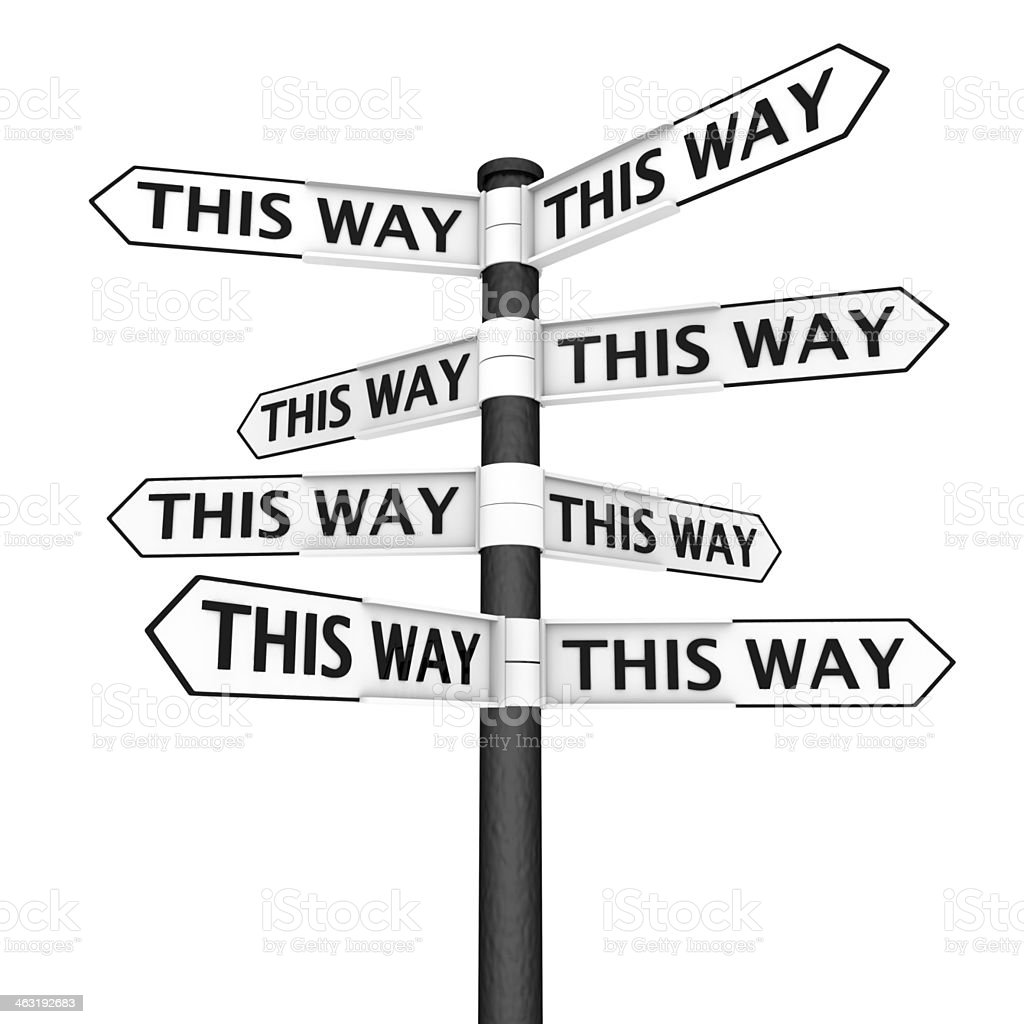 Choose your way stock photo