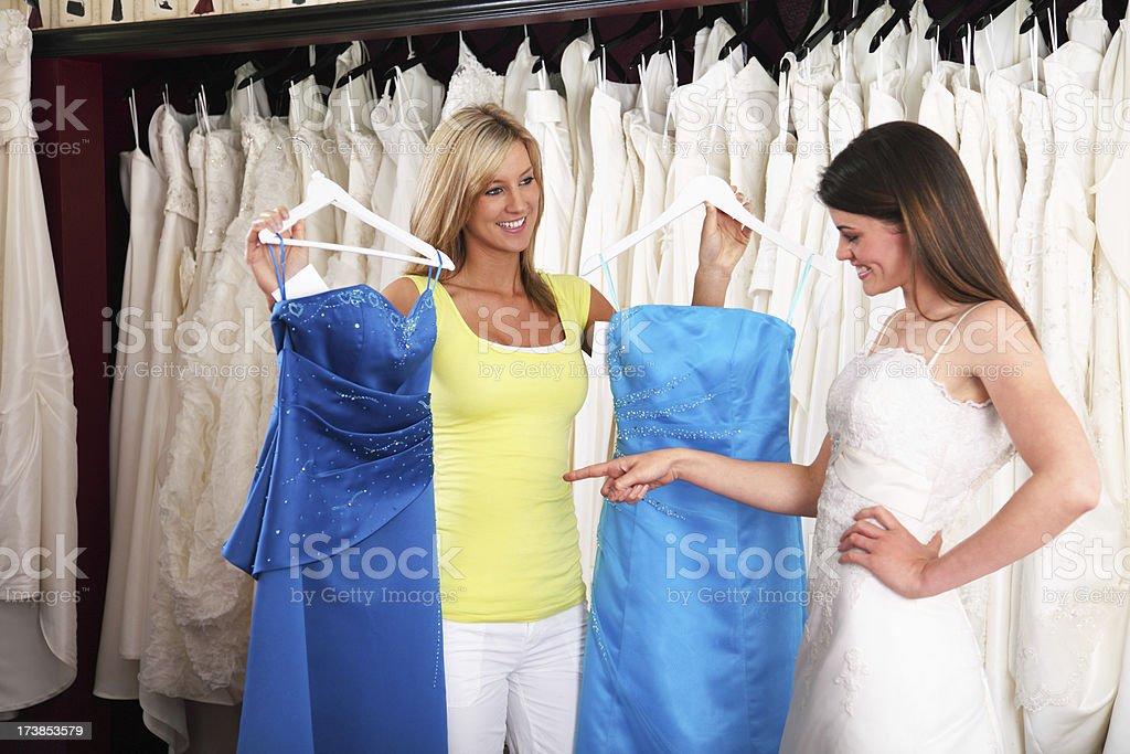 Choosing A Bridesmaid Dress royalty-free stock photo