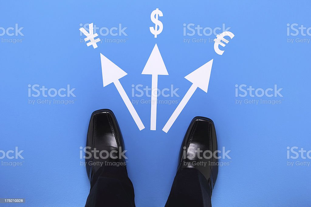 Choosing a Currency royalty-free stock photo