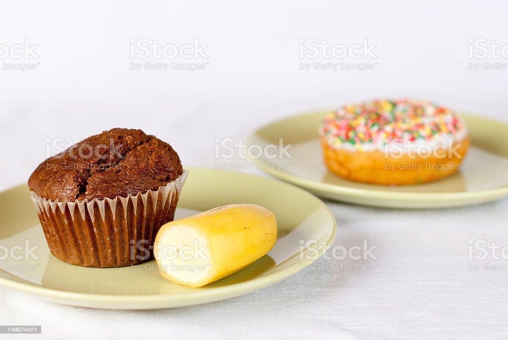 Choosing a Healthy Breakfast stock photo