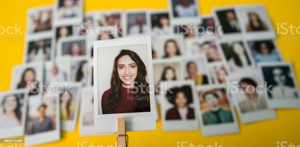 Choosing an employee stock photo