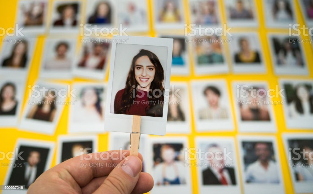 Choosing an employee stock photo