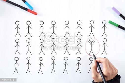 Women hand choosing a Candidate.