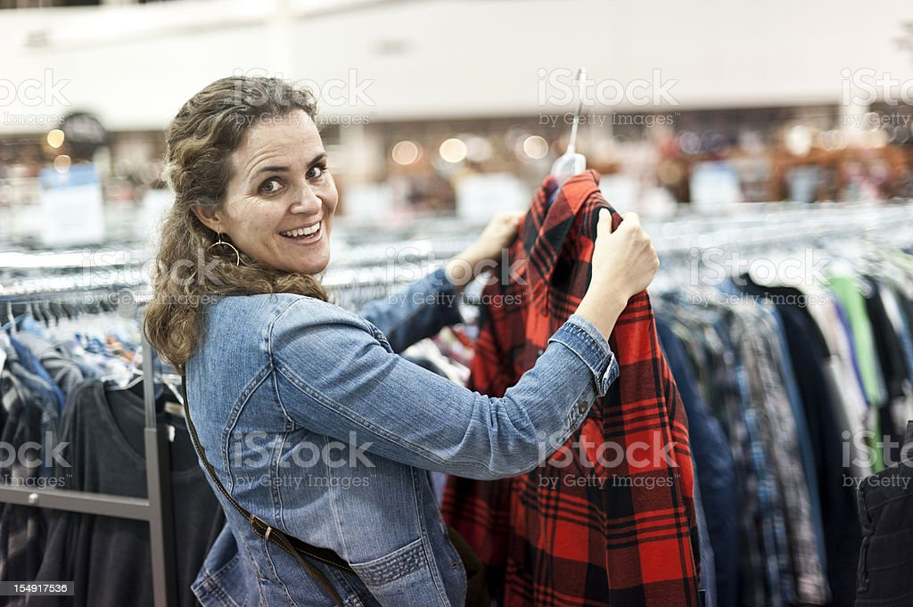 Choosing clothes royalty-free stock photo
